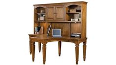 Sedona Dual T Desk With Hutch Country Oak By Aspen Home   1 800