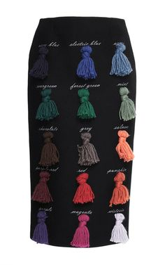 Sapere Tasseled Skirt by STELLA JEAN for Preorder on Moda Operandi