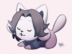 """tem is a slep"" - Temmie by rollinrabbits"