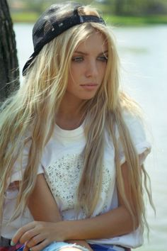 blond,girl,girl,eyes,cap, girl swag, hot, white, beach, beautiful girl, beautiful