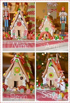 Ginger Bread Recipe to make houses with and free printable template...so sweet