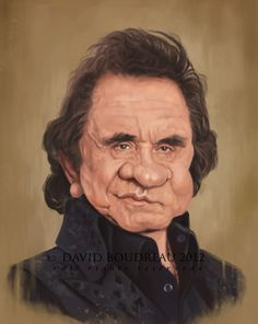 Johnny Cash (caricature) Dunway Enterprises: http://dunway.com - http://masterpaintingnow.com/how-to-draw-everything?hop=dunway