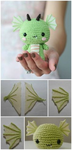 Crochet Easy Dragon – Free Amigurumi Pattern - Crochet Amigurumi - 225 Free Crochet Amigurumi Patterns - Page 3 of 4 - DIY & Crafts