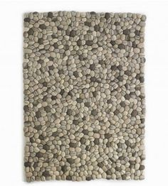Felted stone rug. Wow!