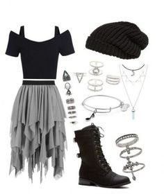 Trendy Skirt Outfits For School Black Ideas - 服 Cute Emo Outfits, Teenage Outfits, Cute Outfits For School, Teen Fashion Outfits, Edgy Outfits, Grunge Outfits, Skirt Outfits, Outfits For Teens, Hot Topic Outfits