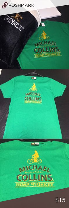 Michael Collins Irish Whiskey Shirt NWOT! Get it just in time for St. Patrick's Day celebrations. John Deere green top 100% cotton. It's an extra large. Bust is 32 with stretch and the length is 22. I would say it's more of a large. John Deere Tops Tees - Short Sleeve