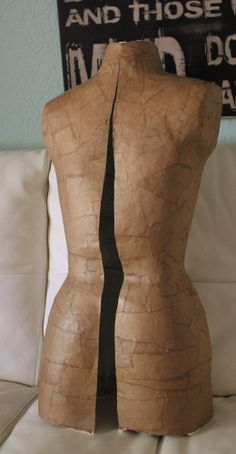 mannequin dress form after removal from the dress form