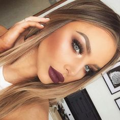 "Brookelle McKenzie on Instagram: ""Bold Lips and Brows ?- Anastasia... ❤ liked on Polyvore featuring beauty products, makeup, lip makeup, lipstick, lips lipstick, anastasia beverly hills and lips makeup"