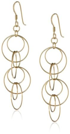 Sterling Silver Circle Link Drop Earrings
