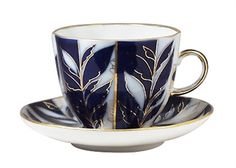 Winter Evening Coffee Cup and Saucer Imperial (Lomonosov) Porcelain Factory