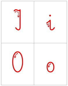 Kierunek kreślenia liter - samogłoski A, a E, e I, i O, o U, u / Ó, ó Y, y ą ę Food Food, Playing Cards, Writing, Therapy, Playing Card Games, Game Cards, Playing Card