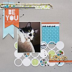 #papercraft #scrapbook #layout. Created by design team member Susan Stringfellow with our This Life Noted kit