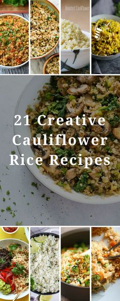 Cauliflower rice is a fantastic low-carb rice alternative. But, it doesn't have to be boring! These recipes are all flavor-filled approaches that will get you loving cauliflower rice. #low-carb #cauliflower