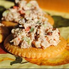 "Turkey Salad | ""Spread it on crackers! Make it into a sandwich! This melt in your mouth appetizer will have your whole party jumping! It's great during the holidays or anytime."""