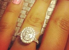 Neil Lane Oval Double Halo Engagement Ring! My Dream Ring!