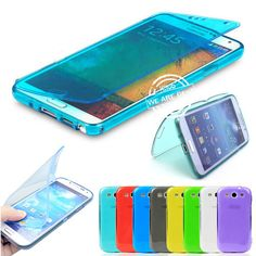 FLIP TPU SOFT SILICON GEL CASE COVER FOR SAMSUNG GALAXY S2 S3 S4 & MINI & NOTE 3 #UnbrandedGeneric