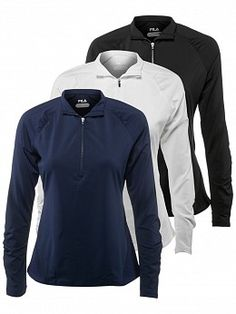 Fila Women's Foundation Half Zip Pullover Tennis Uniforms, Tennis Warehouse, Tennis Clothes, Half Zip Pullover, Foundation, Athletic, My Style, Jackets, Fashion