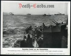 orig. WWII Press Photo - Kriegsmarine convoy - Ice Sea - Date of publication: Aug.08, 1944