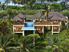 Bali Inspired modern tropical architecture by Bali Built Design Group in Hawaii