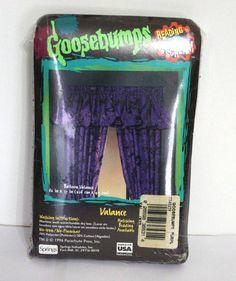 Goosebumps Curtain Valance Child Bedroom Purple Vintage 1996