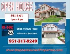 Stephanie Greer open house 6635 Ventura Pl. Rancho Cucamonga by Socially Savvy via slideshare