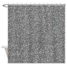 Silver Grey Glitter Shower Curtain on CafePress.com