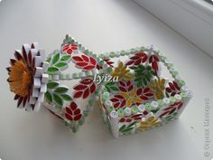 Mẫu 3D cac loai - Lovely Quilled Box
