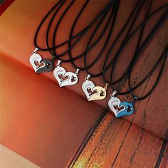 Black Cord Pendant for Couples Heart Stainless Steel Engrave Love Necklaces women Fashion Jewelry Pendants Valentine's Day gift //Price: $8.00 & FREE Shipping // Get it here ---> http://bestofnecklace.com/black-cord-pendant-for-couples-heart-stainless-steel-engrave-love-necklaces-women-fashion-jewelry-pendants-valentines-day-gift/    #Necklace
