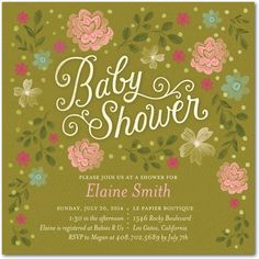 cute baby shower invite (print, decoration, stationery)