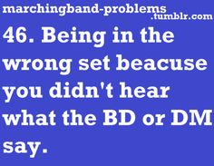 Marching Band Problems because they need to talk louder. Believe it or not, we c… Marching Band Problems because they need to talk louder. Believe it or not, we can't hear you from halfway across the field when you're talking like you're a foot from us. Band Puns, Band Nerd, Band Memes, Marching Band Jokes, Marching Band Problems, Drumline, Band Quotes, Love Band, Music Humor
