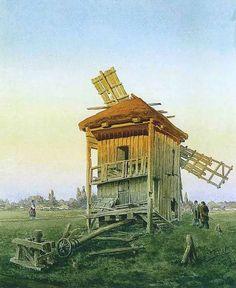 МАКОВСКИЙ ВЛАДИМИР ЕГОРОВИЧ (1846-1920).Ветряная мельница. 1881