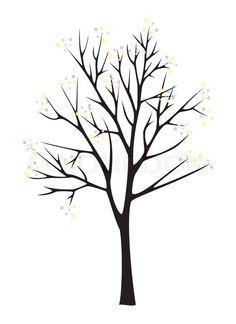 Stock foto af 'Sort træ silhuet på hvid baggrund'