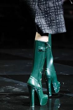LV rainboot heels...I wouldn't wear but would look good wet fashionistas.