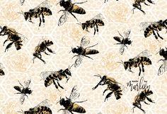 Bijen rozen geel zwart Affinity Designer Affinity Designer, Fabric Design, Animals, Animaux, Animal, Animales, Animais