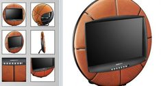 Basketball TV for the boys! Boys Bedroom Decor, Bedroom Themes, Bedrooms, Bedroom Designs, Bedroom Ideas, Basketball Room Decor, Street Basketball, Boy And Girl Shared Bedroom, Decorating Rooms