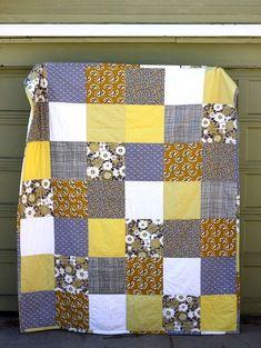 DIY patchwork quilt