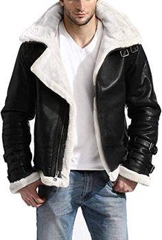 Grey Dunkin Genuine Leather Jacket For Men Fur Shearling Bomber Aviator RAF