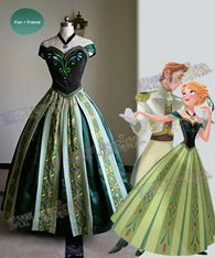 Disney Cosplay Disney Frozen ( Movie) Cosplay, Anna's Coronation Costume Outfit - Made by velveteen, thick satin, Disney Princess Dresses, Princess Ball Gowns, Princess Costumes, Disney Dresses, Elsa Halloween Costume, Halloween Costumes Online, Frozen Costume, Teen Costumes, Woman Costumes