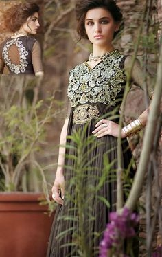 Picture of Luxurious Coffee Color Gown