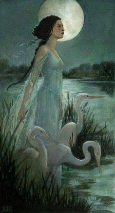 Art And Illustration, Art Illustrations, Art Vintage, Fairytale Art, Fairytale Fantasies, Fantasy Kunst, Inspiration Art, Moon Art, Faeries