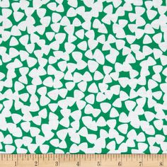 Designed for Michael Miller, this cotton print includes colors of green and white. Use for quilting, craft, apparel and home decor accents.