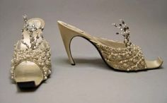 Evening Slippers,  1960. House of Dior. Roger Vivier. by LBFdujour