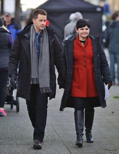 Josh and Ginny on Set #Snowing BTS