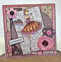Stamping Bella Uptown Girls card by Little Megs Cards
