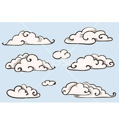 I even think these are great- you have a pretty loose and illustrative drawing style. I think a nice and loose cloud will totally match.