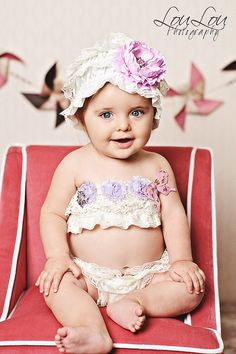 Blooming Butterfly Lace 3 Piece Set from The Couture Baby