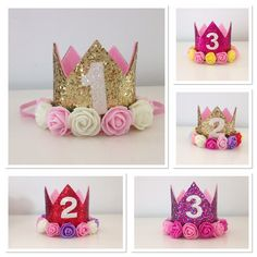 Beautiful birthday crowns available in 1-3 yrs