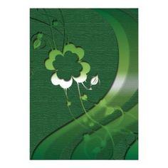 Elegant St Patricks Day shamrock Custom Invitation