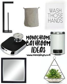 Monochrome Bathroom Ideas | Mummy B Small Bathroom, Bathroom Ideas, Monochrome, Home Improvement, Inspiration, Home Decor, Biblical Inspiration, Homemade Home Decor, Small Shower Room