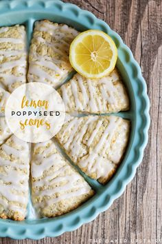 Lemon poppyseed scones - tender and moist, and perfectly lemony without being too tart. Delicious!